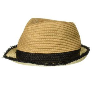 NWT Steve Madden Color Blocked Fine Paper Fedora